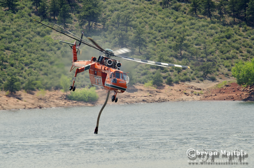 S-64 Air Crane Fire Fighting Helicopter