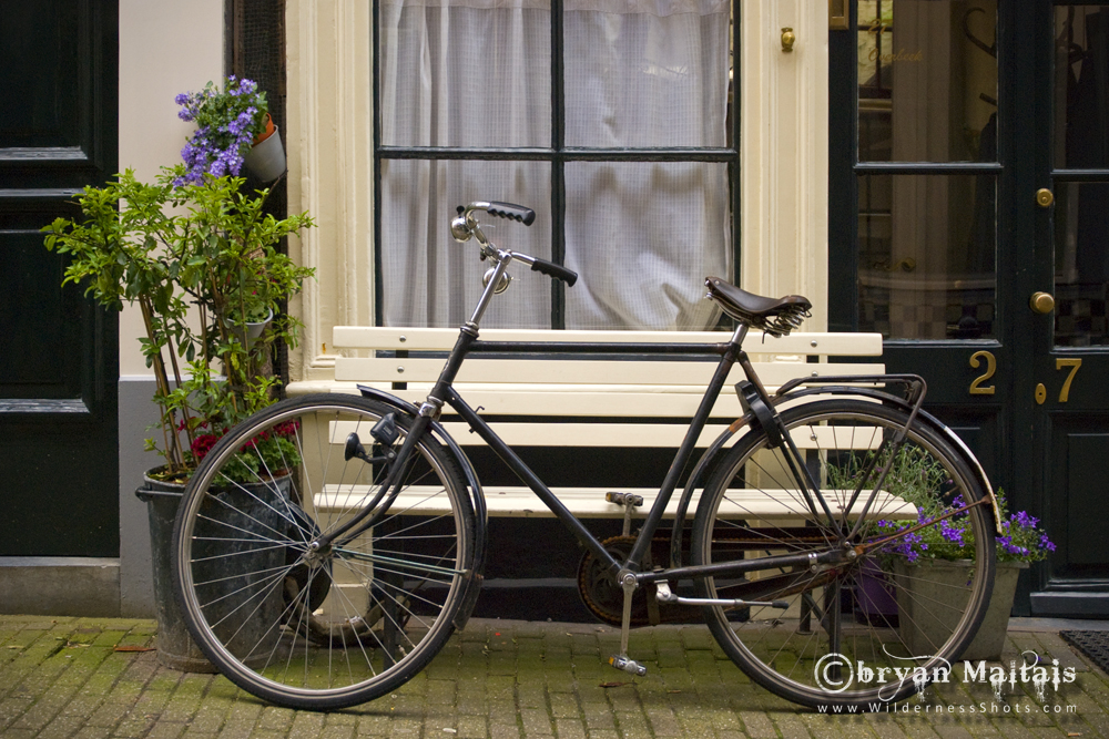 Amsterdam Bicycle and Green Door