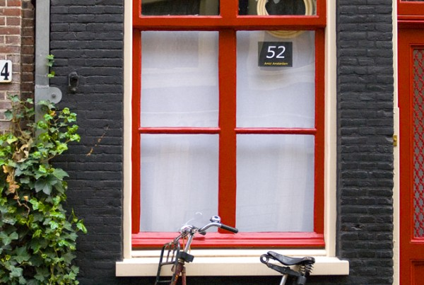 Amsterdam Red Bicycle and Door