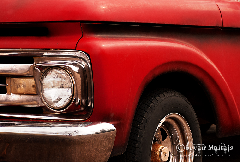 Classic Red Pickup Truck