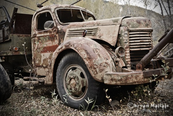 Creepy Old Wrecker Truck
