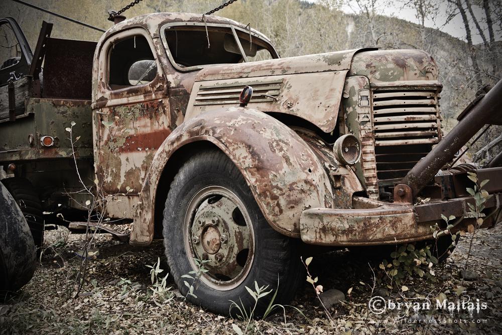 Creepy Old Wrecker Truck