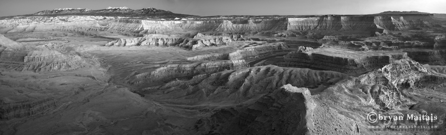 Dead Horse Point Black and White Pano