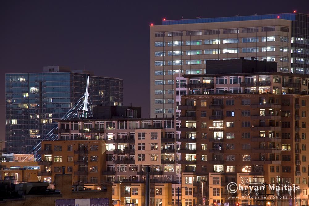 Denver Night Buildings