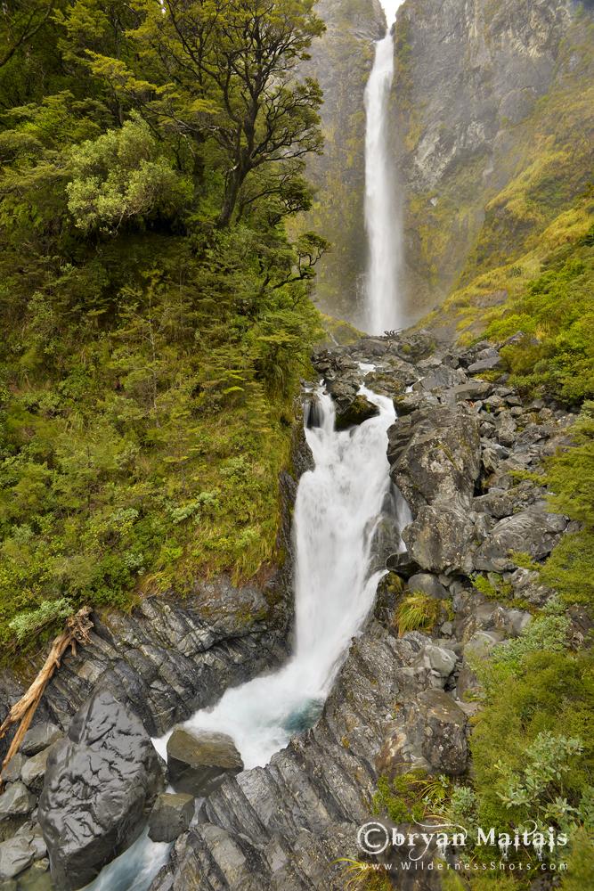 Devils Punchbowl Falls New Zealand