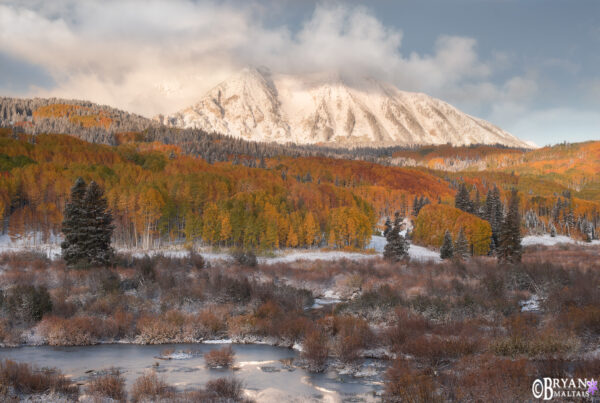 East Beckwith Peak Colorado Fall Colors Crested Butte
