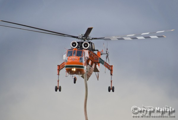 High Park Fire S-64 Air Crane