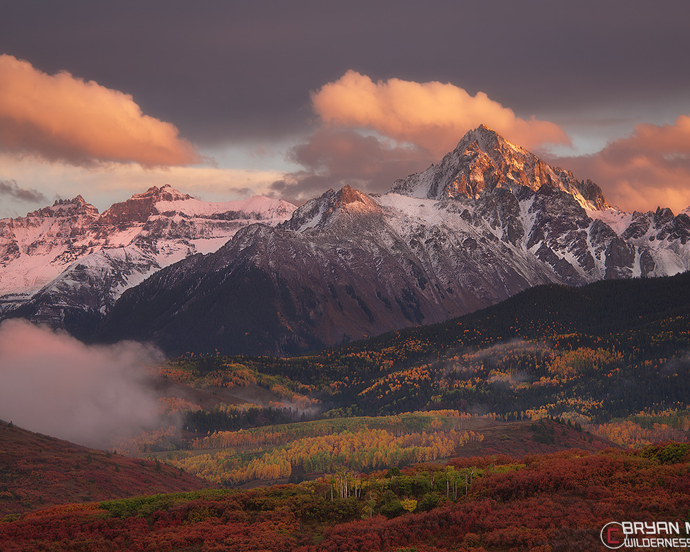 Mt Sneffels San Juan Mountains Colorado Fall Colors