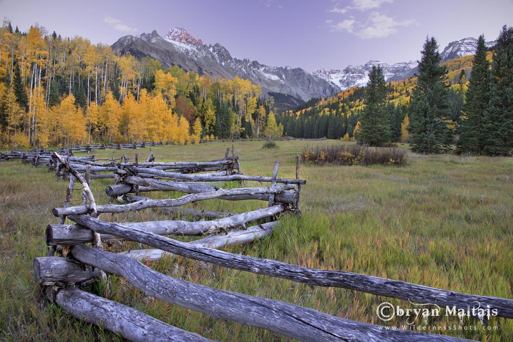 Mt Sneffels Split Rail Fence Colorado