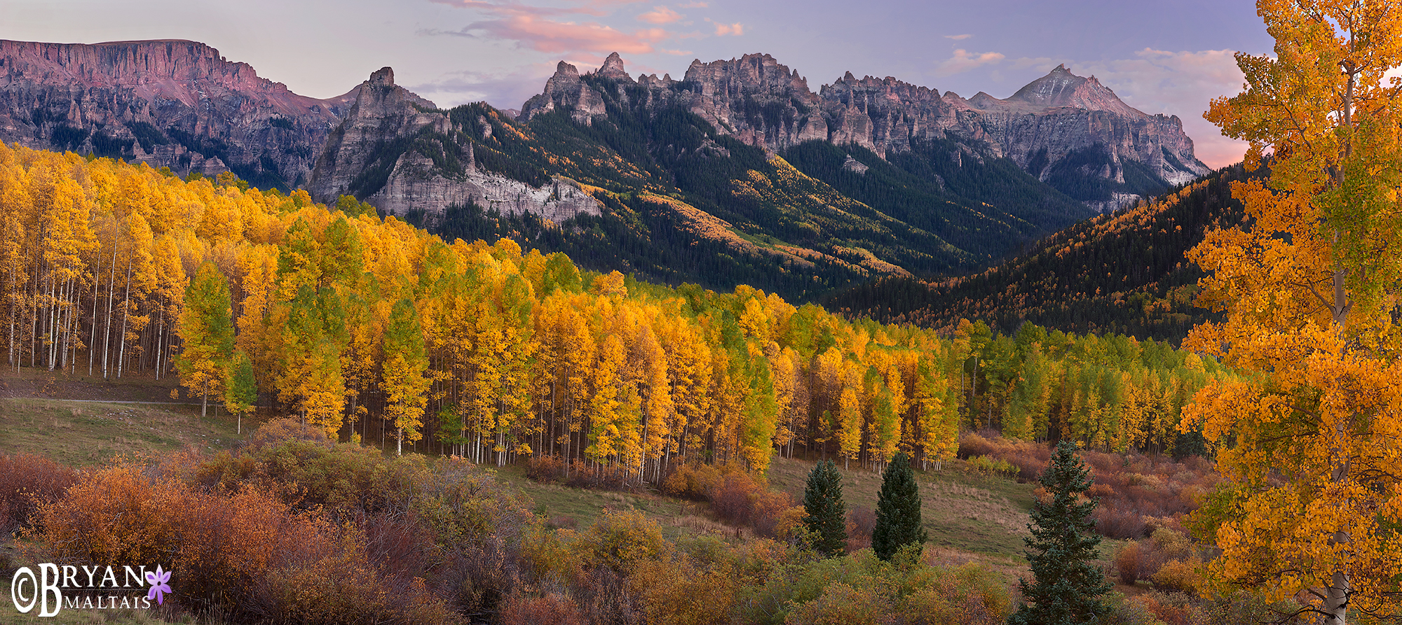 Owl Creek Pass, Fall Colors, Colorado Pano