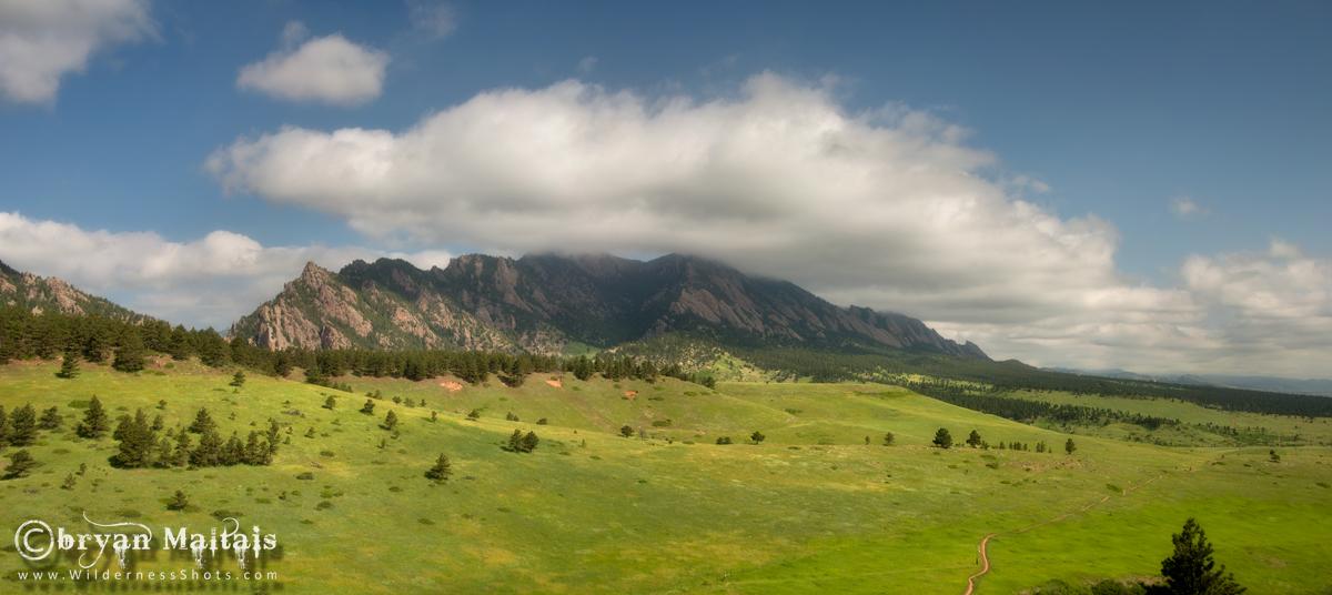 Boulder Flatirons Panoramic
