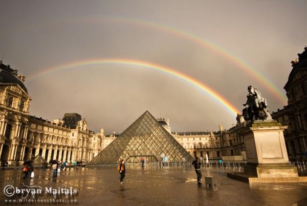 Louvre Double Rainbow, Paris, France