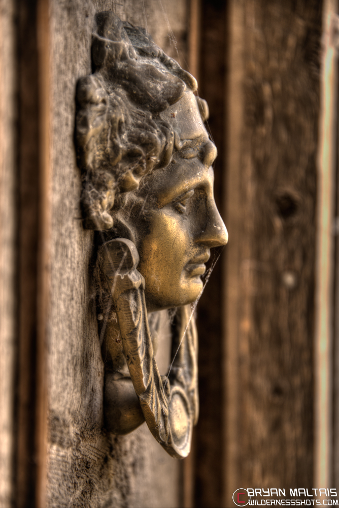 Photographing haunted houses spirits and ghosts - Gothic door knockers ...