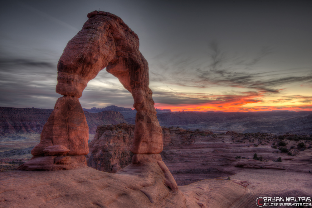 Delicate Arch Sunset Arches National Park Utah