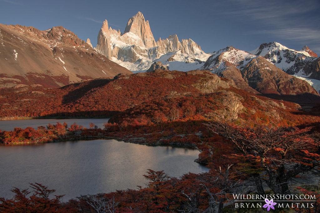 Fitz Roy Mountain Lake Patagonia