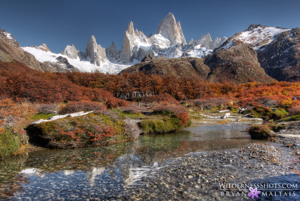 Mount-Fitz-Roy-Afternoon-Fall-Colors-Stream-Patagonia
