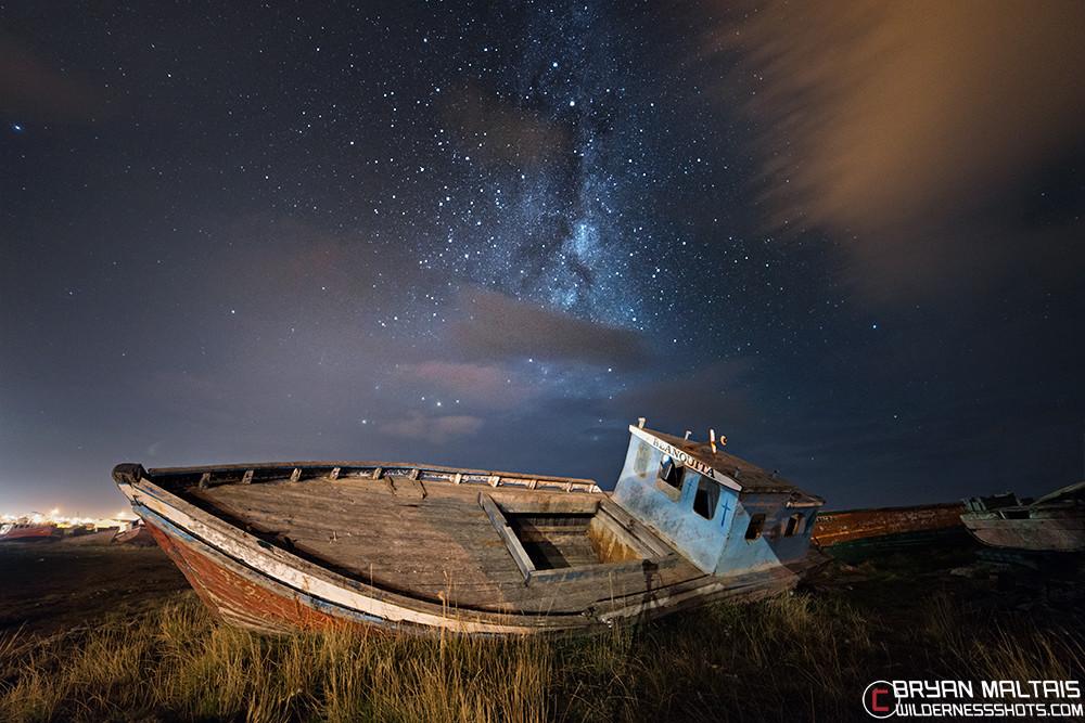 Patagonia-Boat-Milky-Way