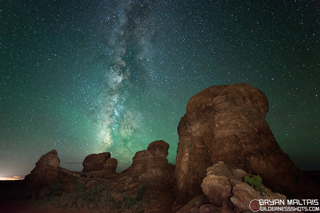 Milky Way over Arches National Park Backbone Turret Arch