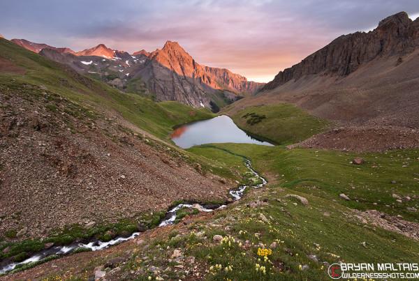 Blue Lakes Sunrise San Juan Mountains Colorado