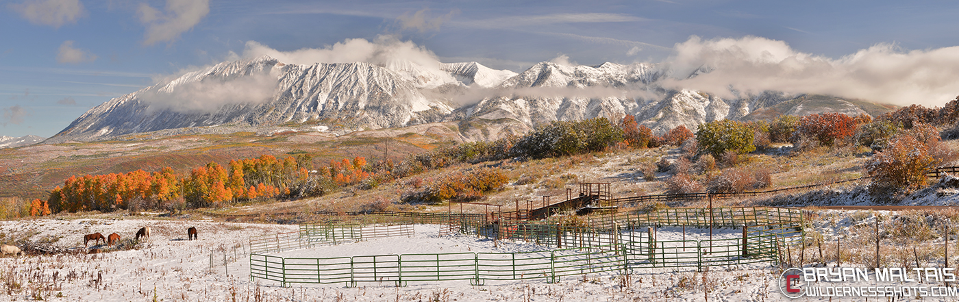 Ragged Peaks Panoramic Kebler Pass Rd Crested Butte Colorado