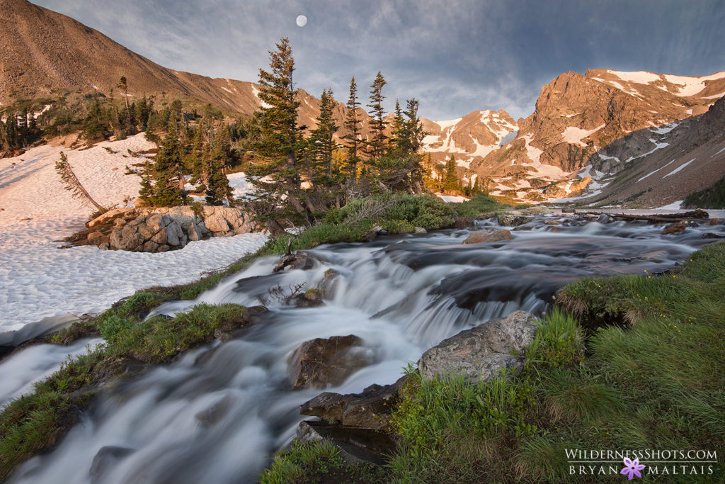 Lake Isabell Waterfall Indian Peaks Colorado