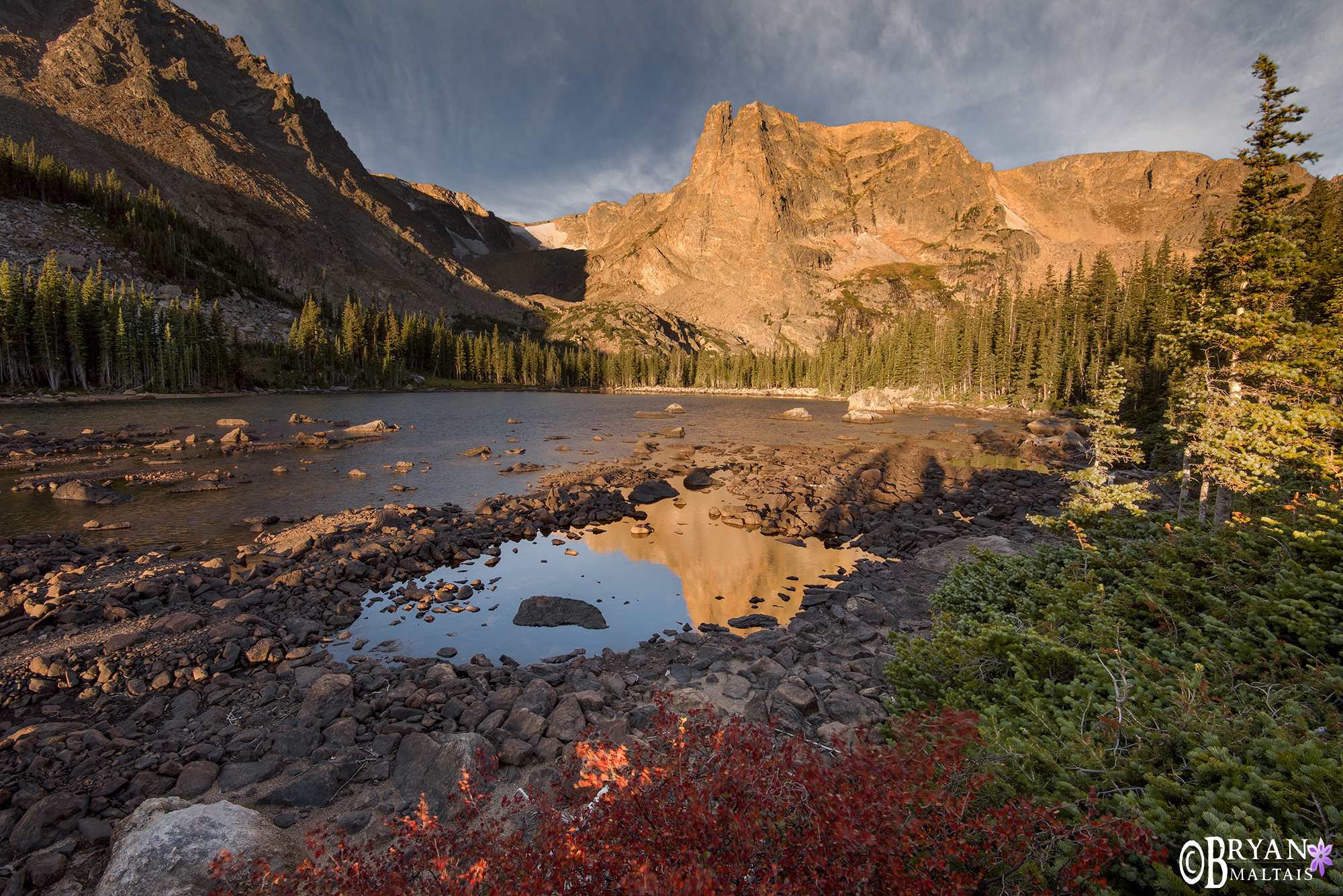 Notchtop Mountain Sunrise Rocky Mountain National Park Colorado