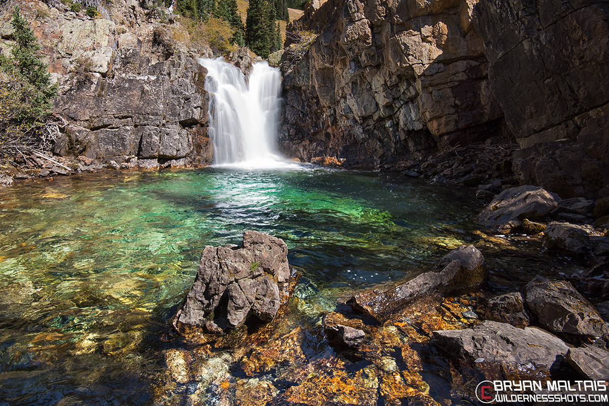 West Elk Mountains Waterfall Horizontal
