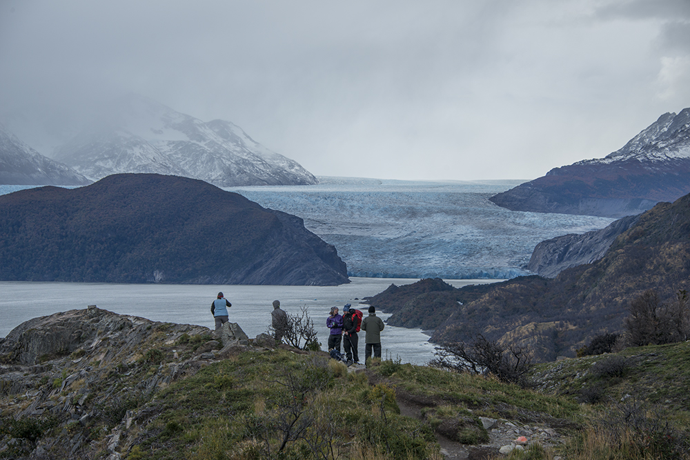 On day 1 we hiked along Lago Grey to Glacier Grey