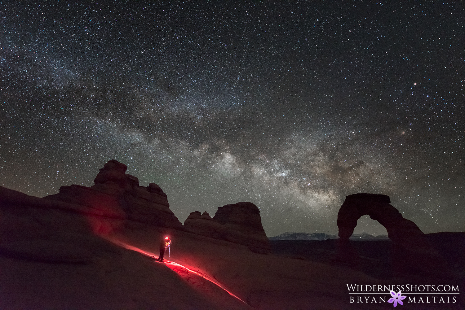 delicate arch milky way astrophotography bryan maltais