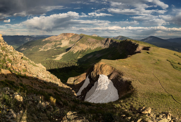 heart break ridge crested butte colorado panoramic