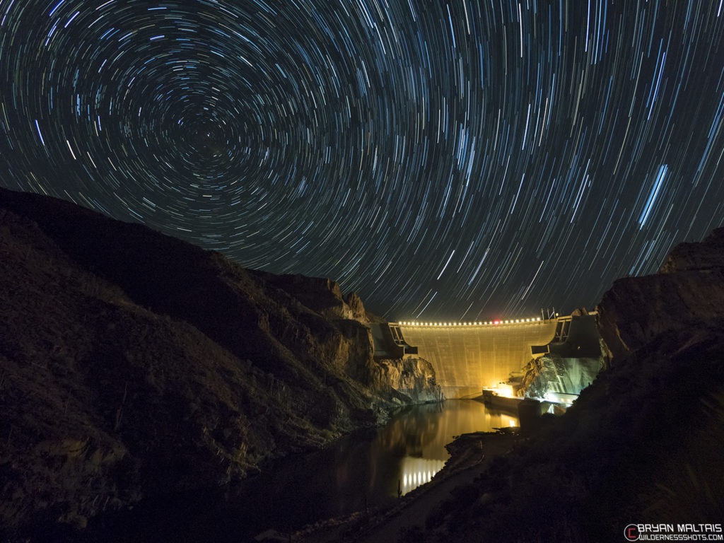 dam star trails
