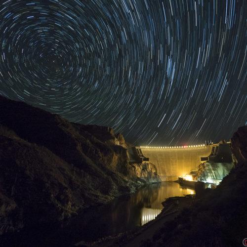 dam star trails