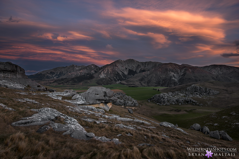 Castle Hill Sunset New Zealand Landscape Photography