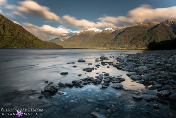 Haast River Sunset Clouds New Zealand Landscape Photography