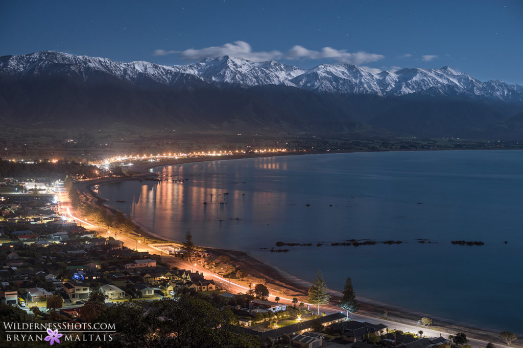 Kaikoura Full Moon Night New Zealand Landscape Photography