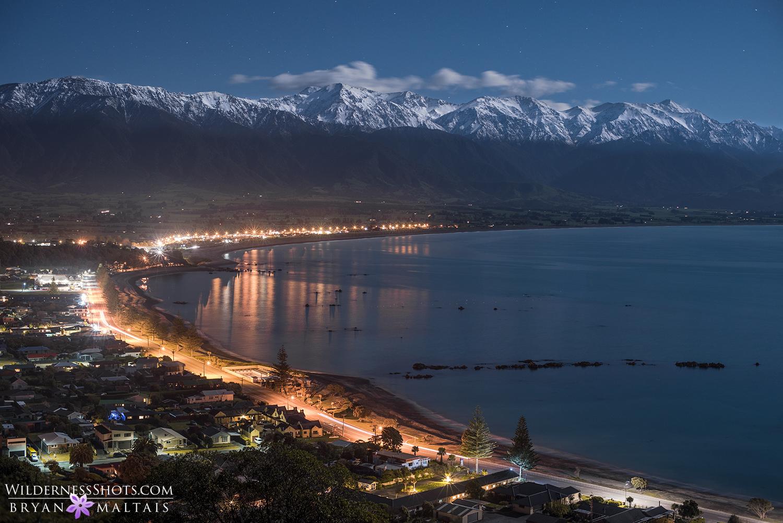 Kaikoura Full Moon Night New Zealand Landscape Photography