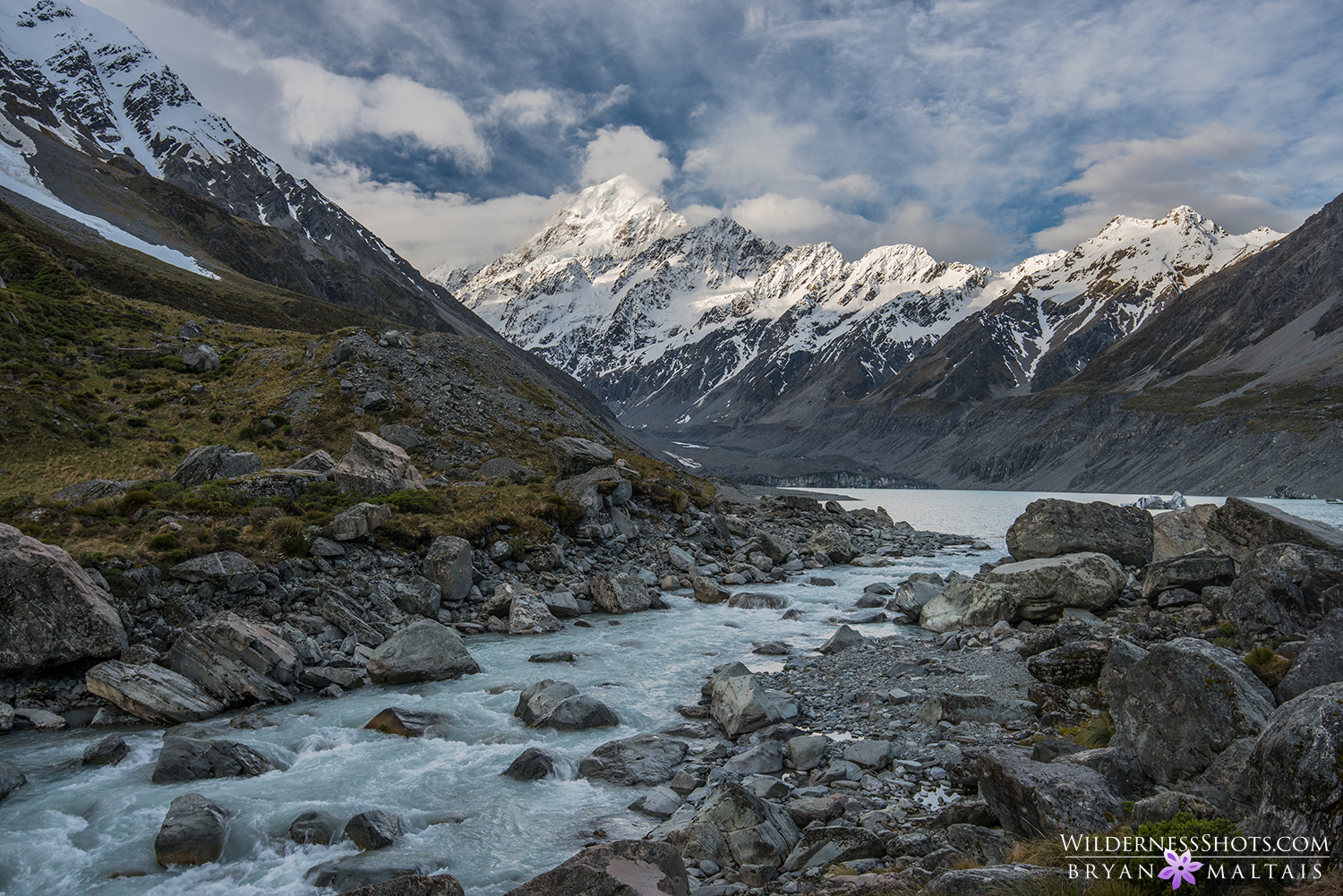Mount Cook River New Zealand Landscape Photography