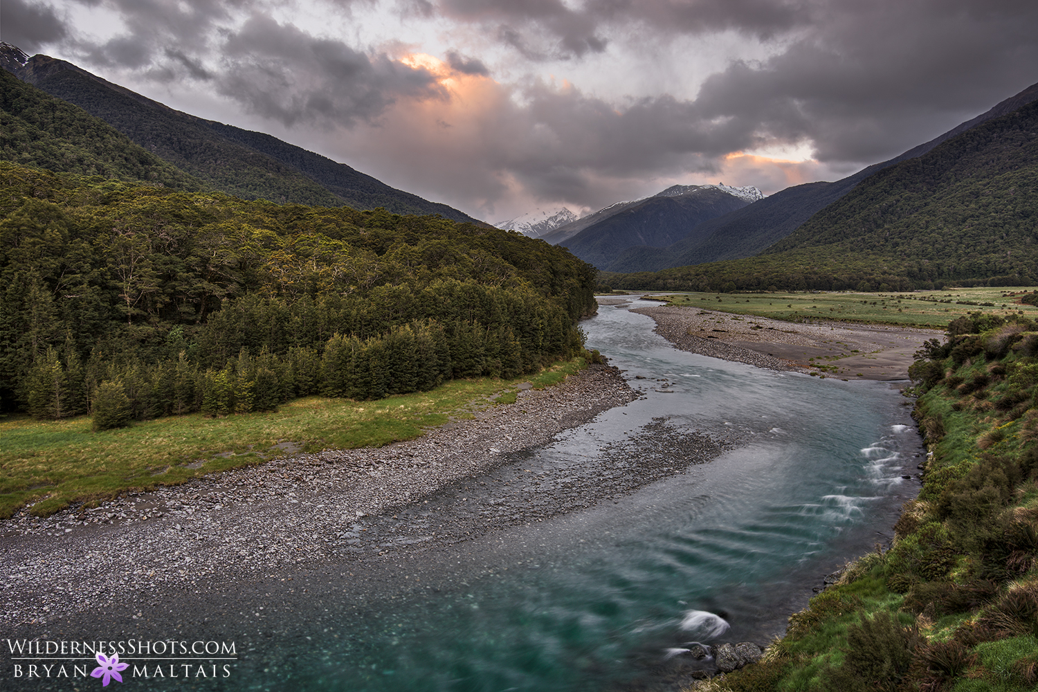 haast river new zealand landscape photography