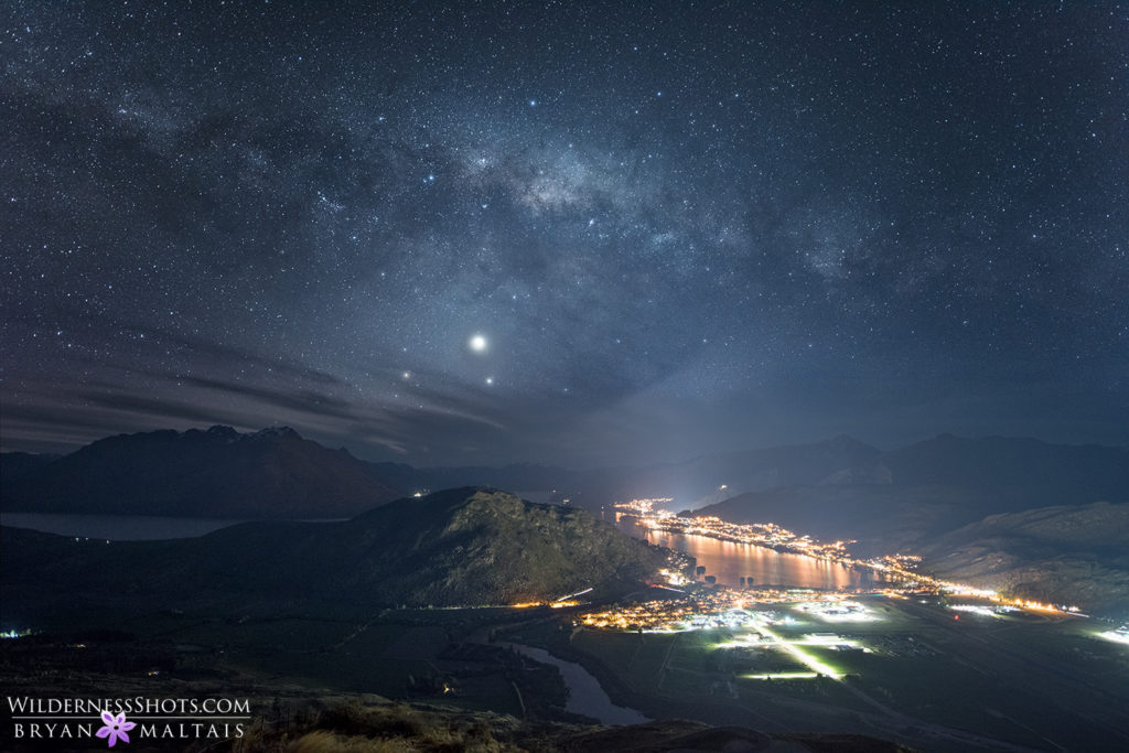 milky way queenstown new zealand landscape photography