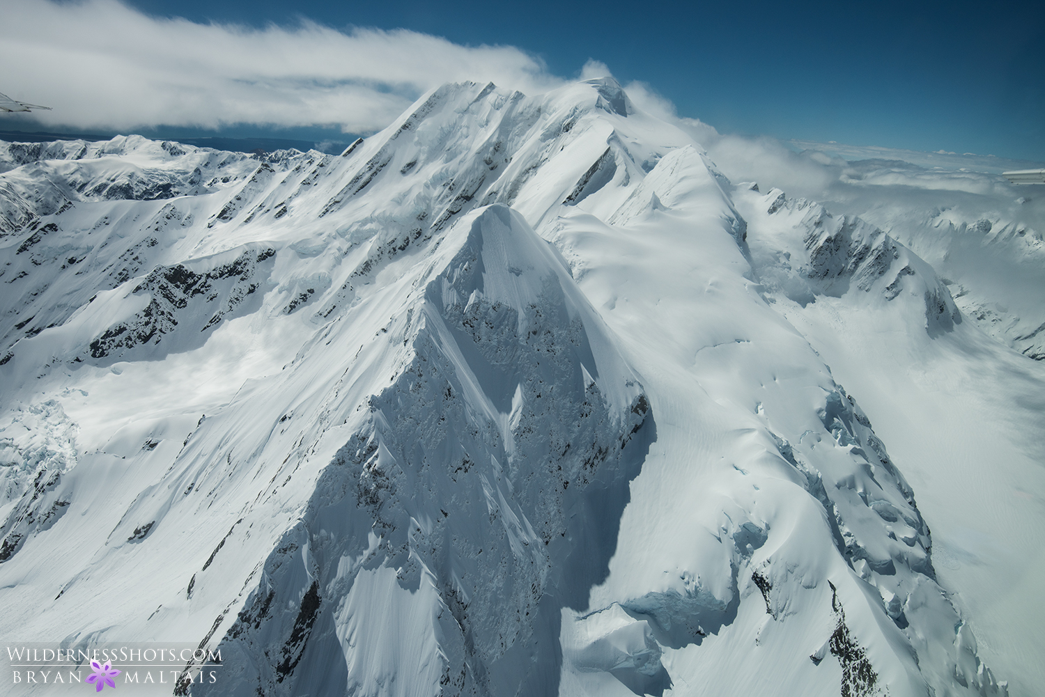 mt. cook from the air new zealand landscape photography