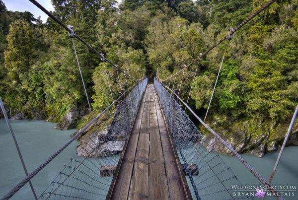 pelorus river swing bridge new zealand landscape photography