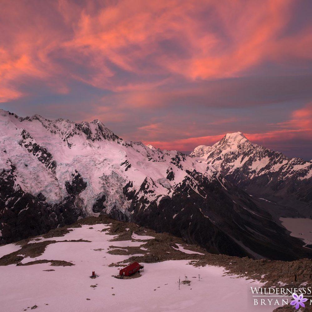 Mueller Hut Sunset New Zealand Photos