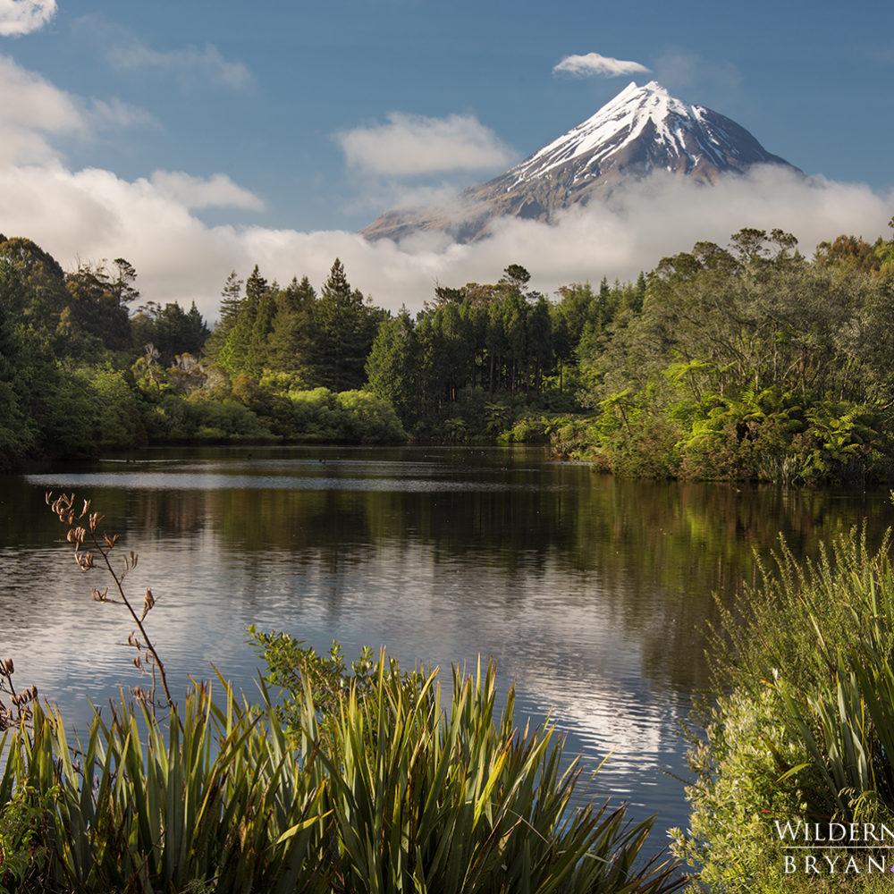 Mt Egmont Taranaki Lake Mangamahoe New Zealand Photography