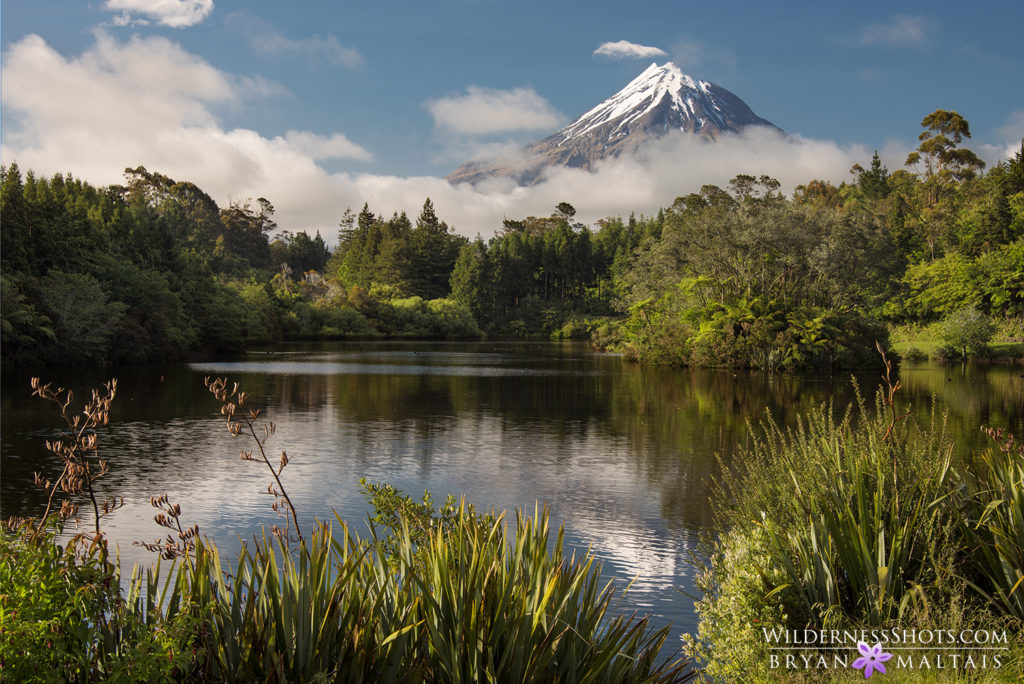 Mt Egmont Taranaki Lake Mangamahoe New Zealand Photography