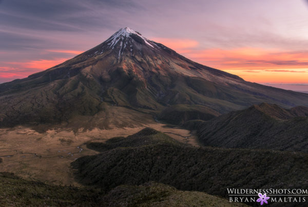 Mt Egmont Taranaki Sunset New Zealand Photos
