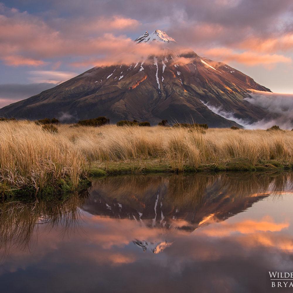 Mt Taranaki Tarns Reflection New Zealand Photography