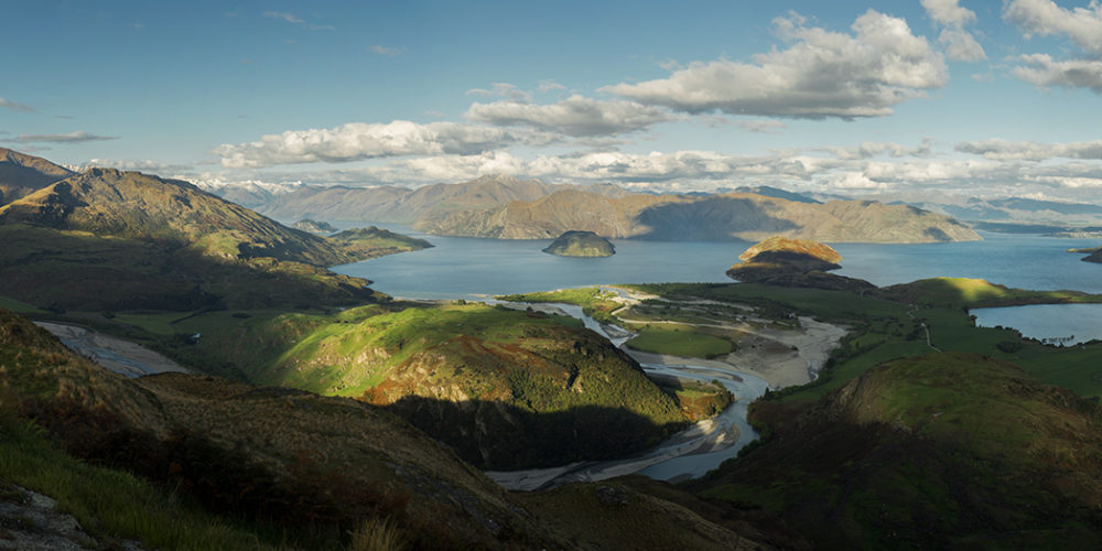 lake wanaka panoramic new zealand photography