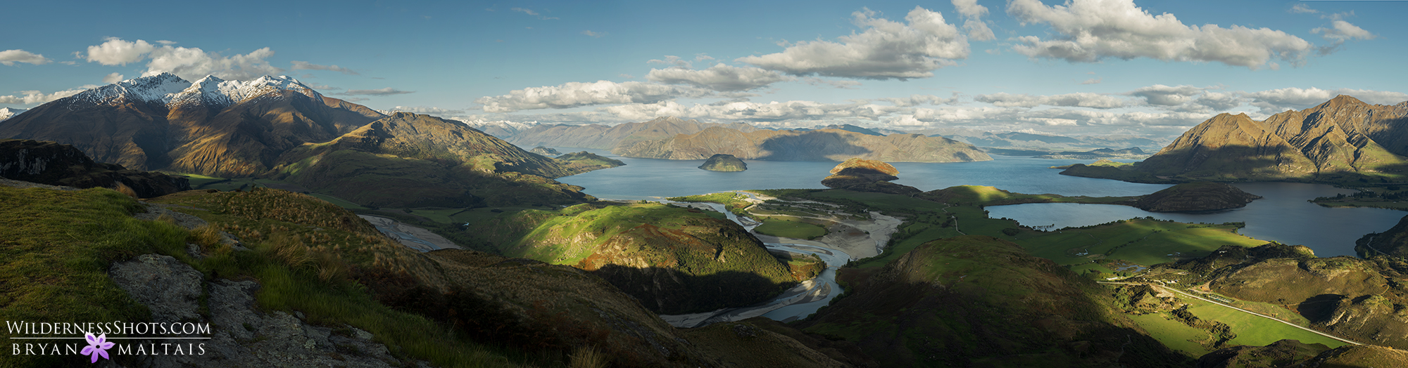 lake wanaka panoramic new zealand photography