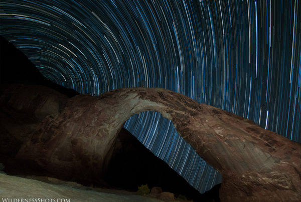 corona arch star trails moab astrophotography