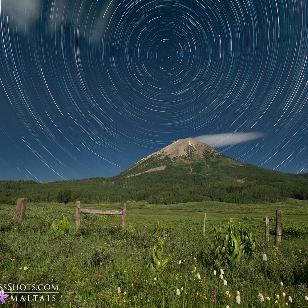 Gothic Mountain Star Trails Crested Butte Colorado Astrophotography Bryan Maltais